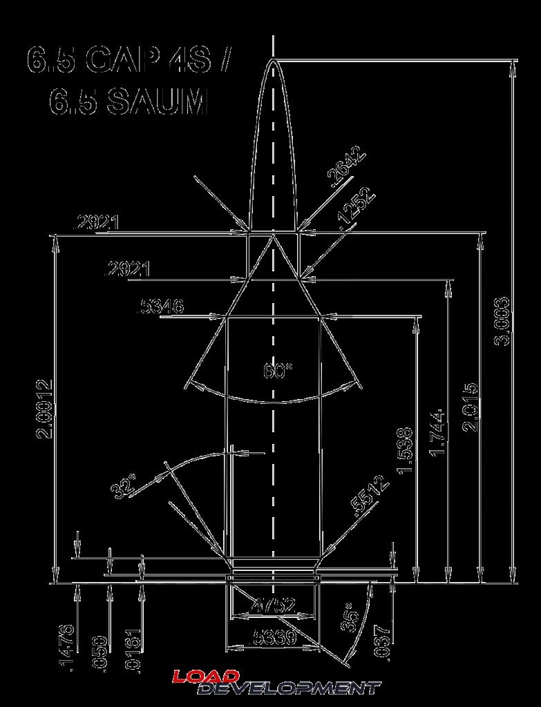6.5 GAP 4S Drawing Cartridge Dimensions